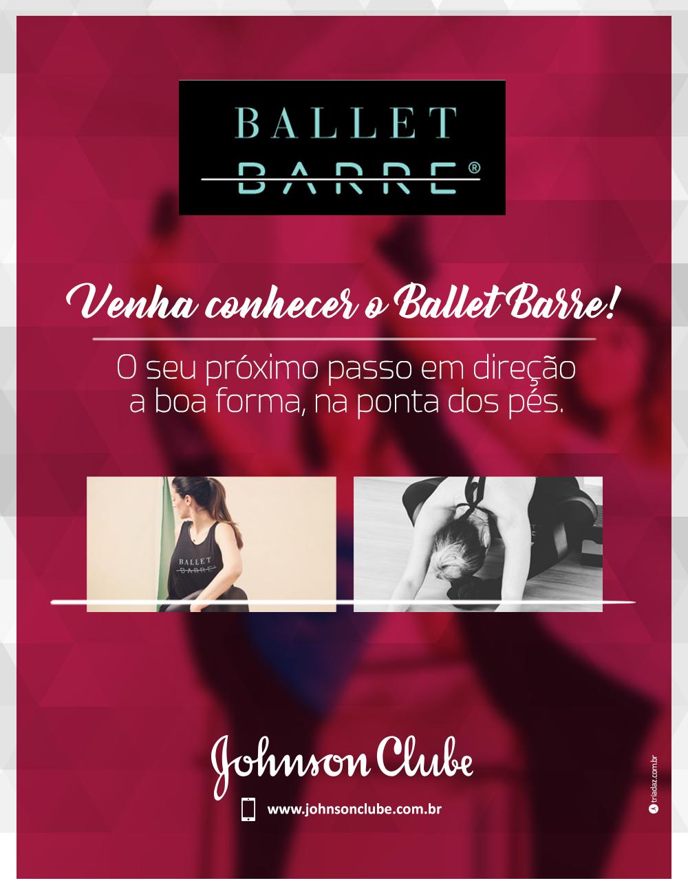 Venha conhecer o Ballet Barre! O seu próximo passo em direção a boa forma, na ponta dos pés.