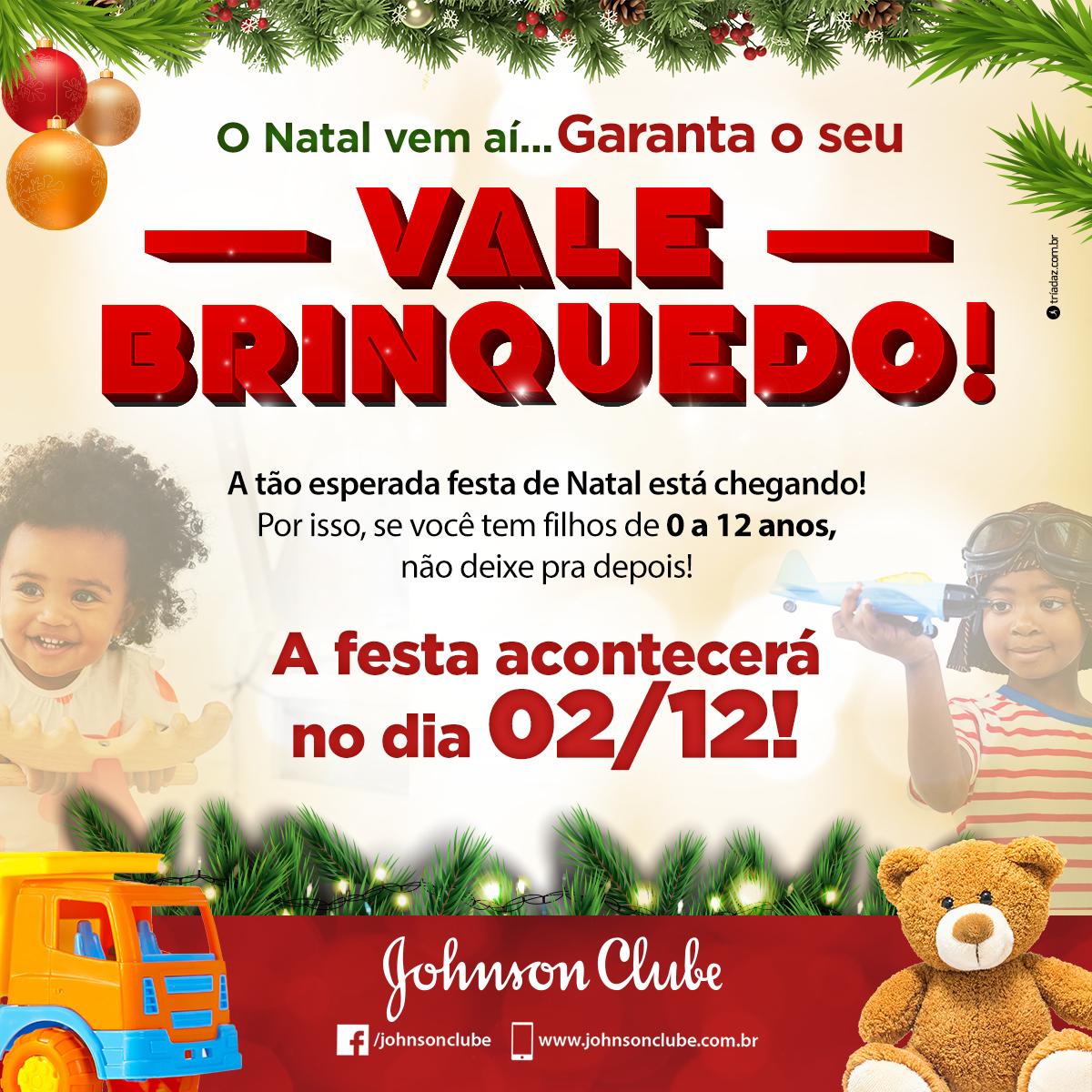 O Natal vem aí, garanta seu Vale Brinquedo!