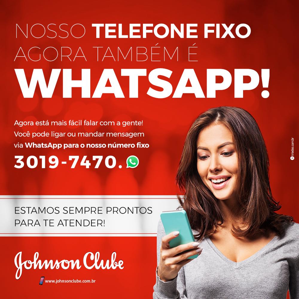 Nosso telefone fixo agora também é WhatsApp!