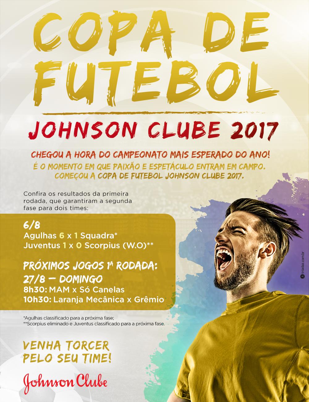 COMEÇOU A COPA DE FUTEBOL JOHNSON CLUBE 2017!