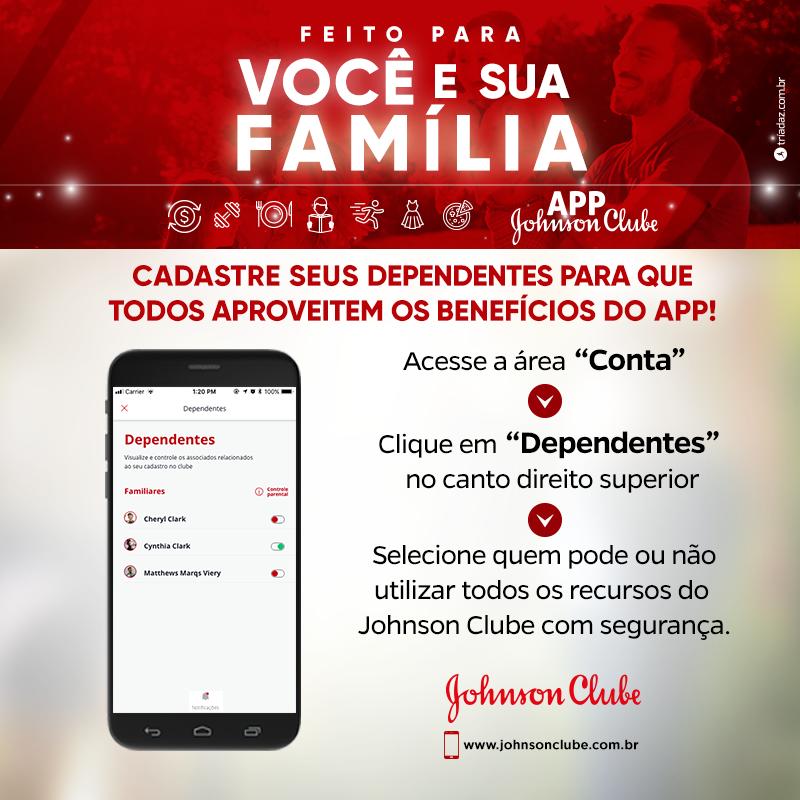 O APP do Johnson Clube é feito para você e sua família!