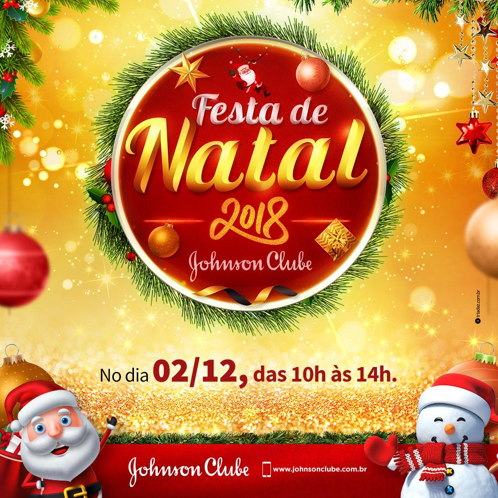 Está chegando a Festa de Natal do Johnson Clube!